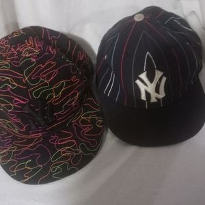 Yankees Fitted ...7.3/4 &  7.5/8 Pre-owned